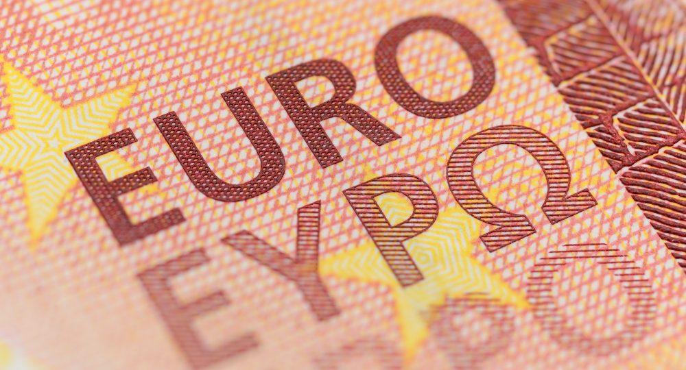 Euro currency macro shot