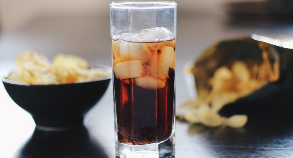 Coca-cola and chips
