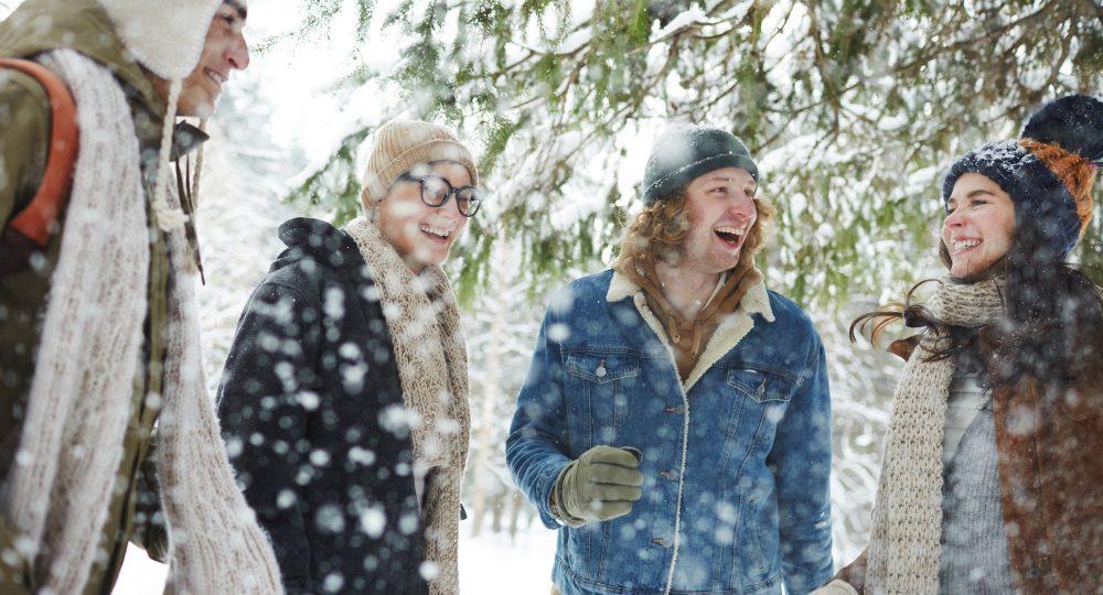 Friends in Snow