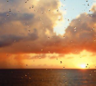 Raindrops And Rain Clouds