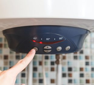 Switch off an electric boiler